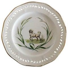 Royal Copenhagen Flora Danica Plate #3584 Antique from 1860-1880