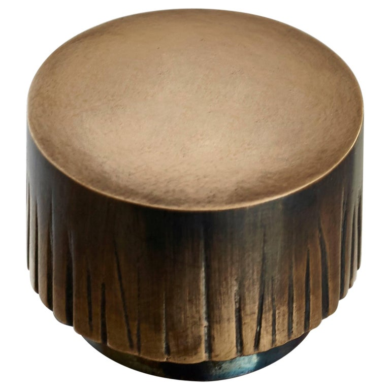 """""""Fluted"""" Solid Cast Bronze Knob"""