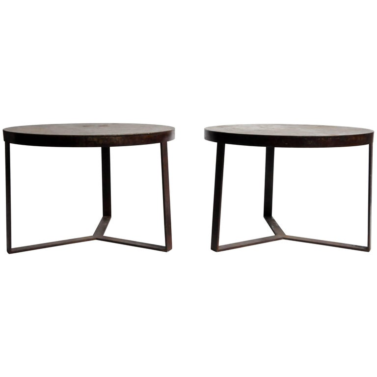 Round Iron Side Tables