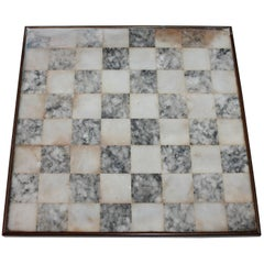 19th Century Marble Footed Game Board