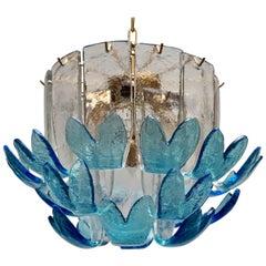 Two Rare Murano Glass Chandeliers by Alfredo Barbini