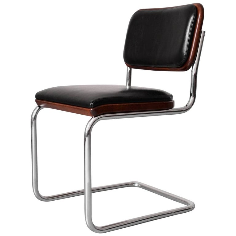 "Bauhaus Tubular-Steel Cantilever ""Cesca"" Chair by Marcel Breuer for Gavina/Knoll"