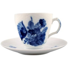 26 Sets Royal Copenhagen Blue Flower Braided, Espresso Cup and Saucer