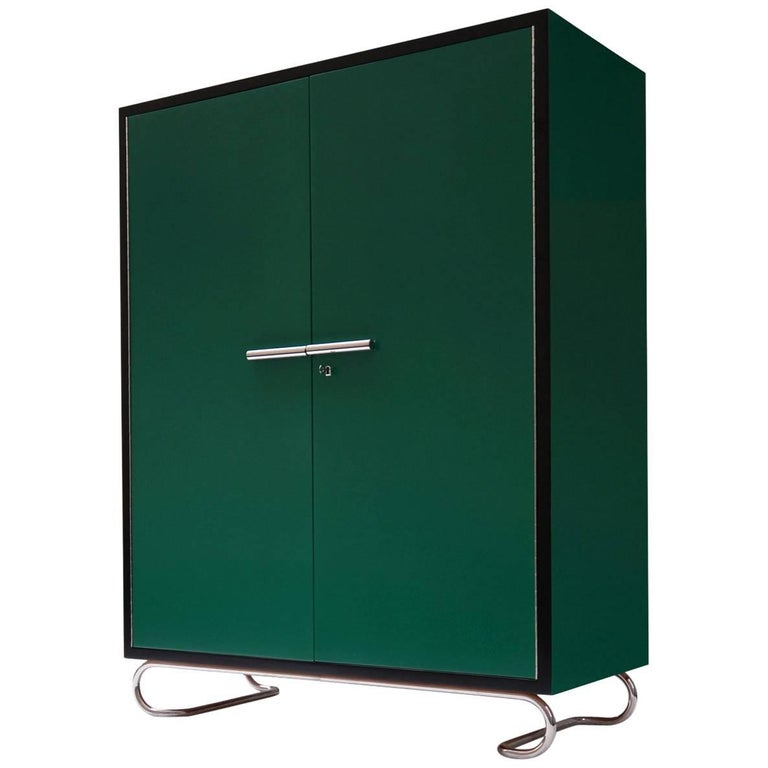 German Modernism Wooden Storage Cabinet Manufactured by GMD Berlin, Design 1925 For Sale