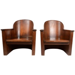 Pair of Armchairs Attributed to Axel Einar Hjorth, Pine, Åby Furniture Mid-1900s