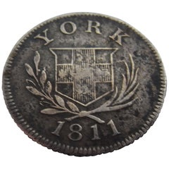 Rare George III Six Pence Made in York in 1811 by Cattle & Barber