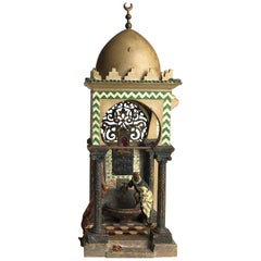 Vienna Bergman Bronze Lamp of Mosque, circa 1900
