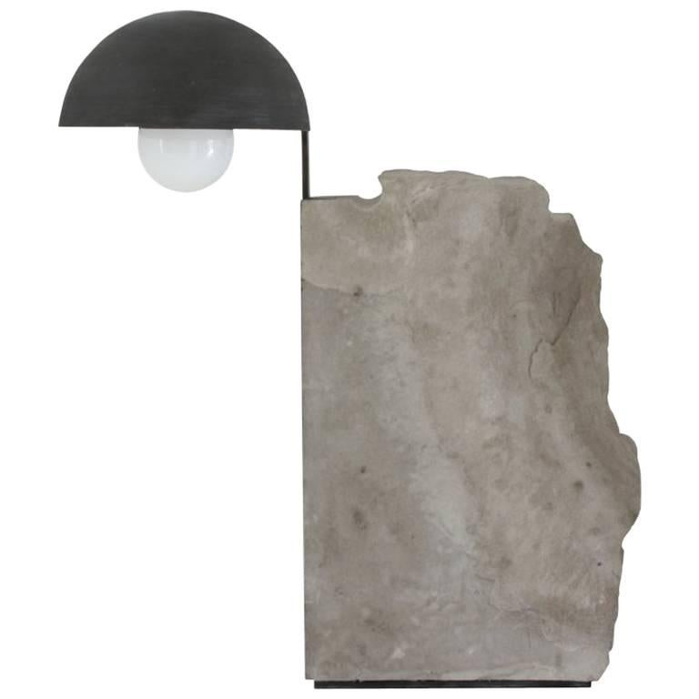 Pedra Table Lamp by Gustavo Neves, Brazilian Contemporary Furniture For Sale