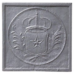 19th Century French 'Arms of France' Fireback
