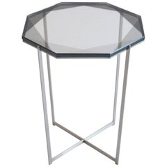 Gem Side Table/ Smoke/ Nickel/ In Stock