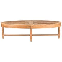 Custom Teak Oval Table