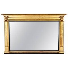 Large Antique Giltwood Classical Mirror Ca. 1820