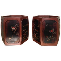 Pair of Japanese Cache Pots