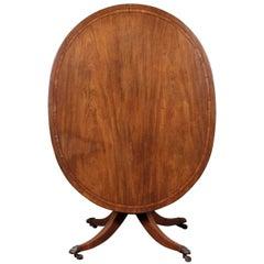 Mahogany Oval Tilt Top Breakfast Table