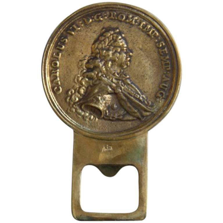 Carl Auböck 'Carolus VI' Brass Bottle Opener