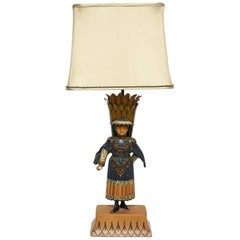 French Tole Peinte Lamp