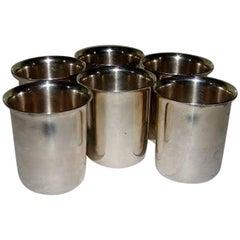 Six Mogens Bjorn-Andersen Snaps/Vodka Shots in Sterling Silver
