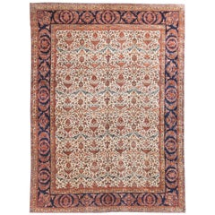 Vintage Persian Kashan Rug