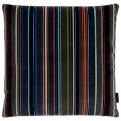 Maharam Pillow, Velvet Stripe by Paul Smith