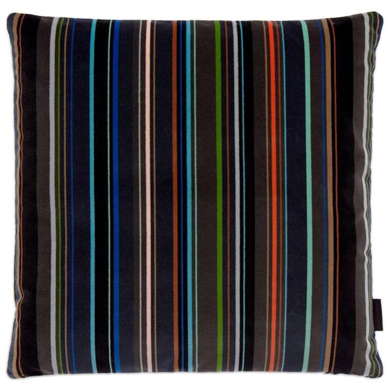 Maharam Pillow, Velvet Stripe by Paul Smith For Sale