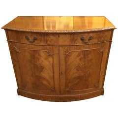 Luscious Burled Walnut Chest of Drawers with Front Panel Doors