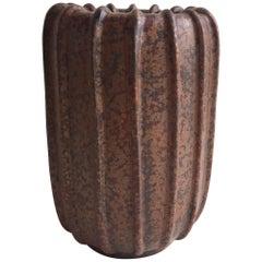 Arne Bang Stoneware Vase, 1940s