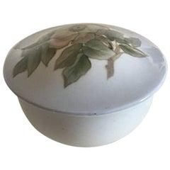 Royal Copenhagen Art Nouveau Lidded Bowl with Flower Motif #173/1