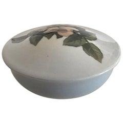 Royal Copenhagen Lidded Bowl #173/2 with Flower Motif