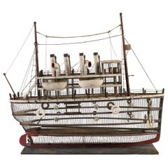 Fanciful Birdcage in the Form of the RMS Titanic