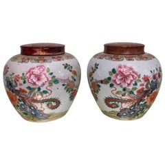 Pair of 19th Century Chinese Ginger Jars