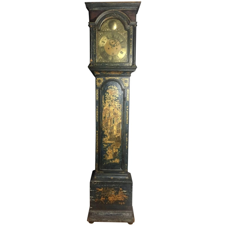 Late 18th Century English Chinoiserie Tall Case Clock