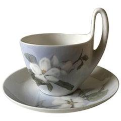 Royal Copenhagen Art Nouveau Small High Handled Cup and Saucer No. 1242/4