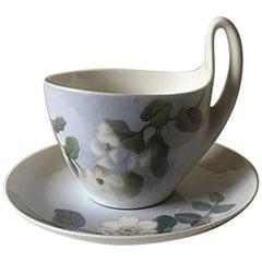 Royal Copenhagen Art Nouveau High Handled Cup and Saucer No. 1242/4