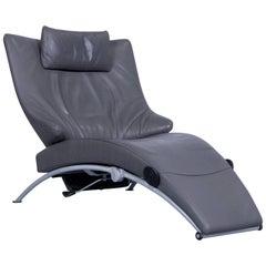 WK Wohnen Solo 699 Designer Chair Leather Grey Function Couch Modern
