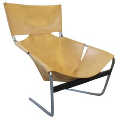 1960s Pierre Paulin for Artifort Leather F444 Lounge Chair