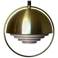 Scandinavian Designer, Brass Ceiling Lamp