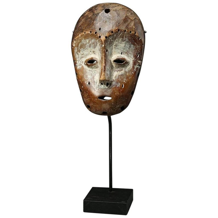 Small Expressive Tribal Mask, Lega, Drc, Africa, Mid-20th Century