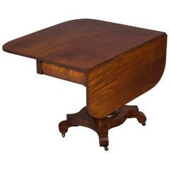 Victorian Mahogany Drop-Leaf Center Table