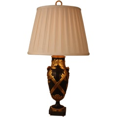 French Ormolu and Patinated Bronze Table Lamp by Christofle