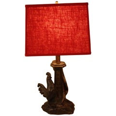 Bronze Rooster Table Lamp by Antoine Bofill