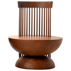 Contemporary Mass Chair #2 in Solid Kwila Wood Chair
