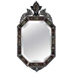 Antique Italian Venetian Murano Glass Mirror