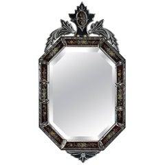 Antique Italian Venetian Murano Glass Mirror