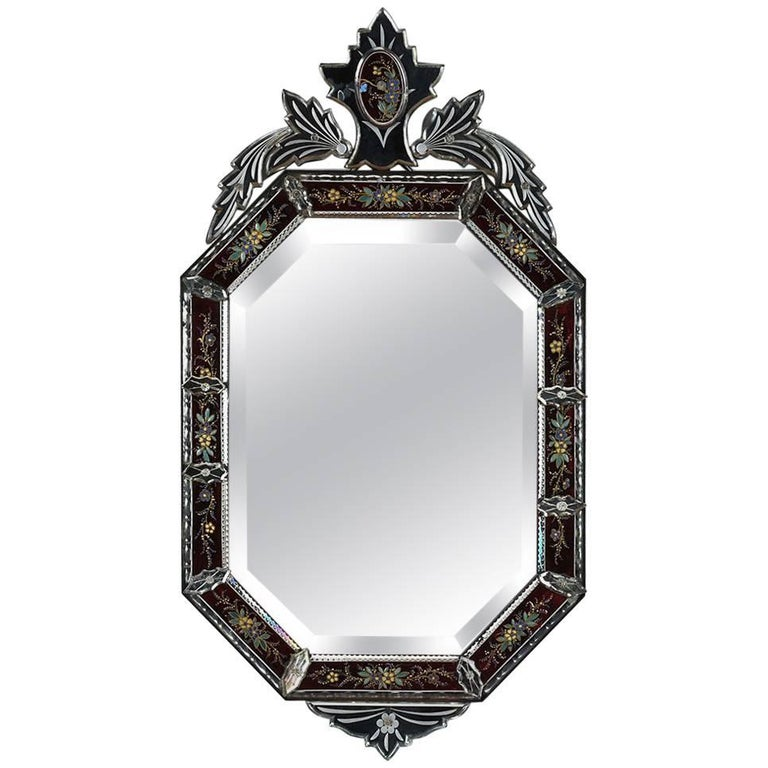 Antique italian venetian murano glass mirror for sale at for Glass mirrors for walls