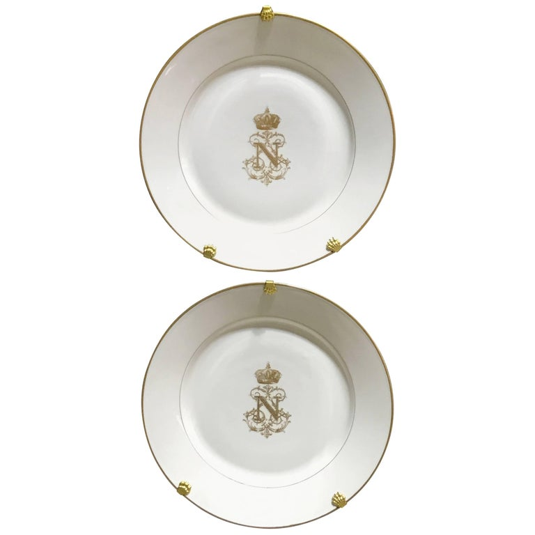 Pair Of S 232 Vres Plates From The Service Of Napoleon Iii For