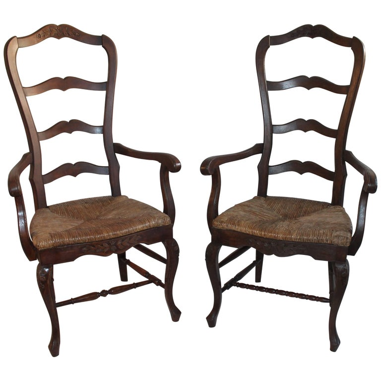 French Country Chairs / Pair