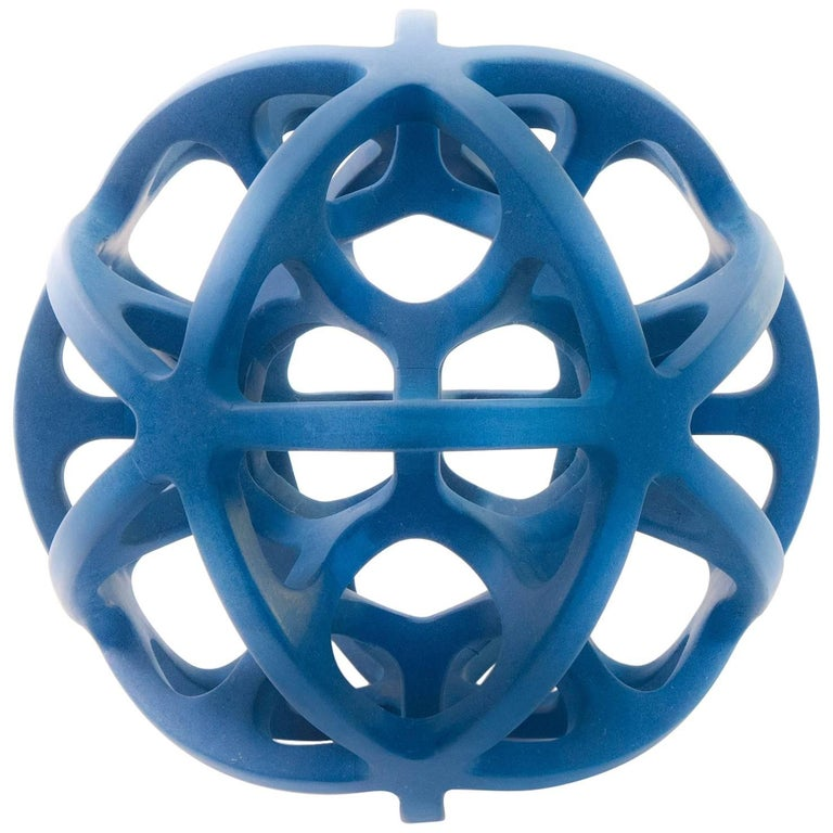Contemporary Mexican Geometric Dual Icosahedron Handcrafted Sphere Sculpture