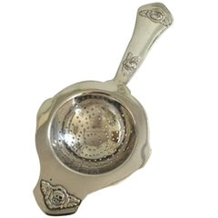Rosen Silver Tea Strainer from W. S.Sørensen