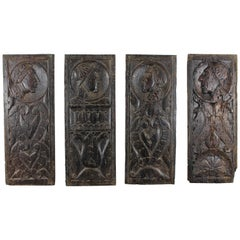 Renaissance Period Set of 16th Century Panels Depicting Men-at-Arms