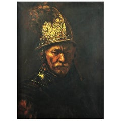 "After Rembrandt ""The Man with The Golden Helmet"" 19th Century School"